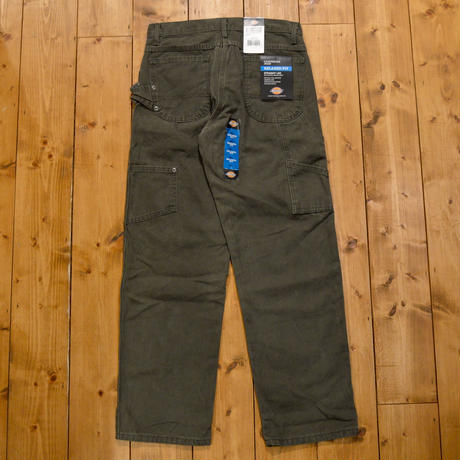 Dickies Relaxed Fit Straight Leg Carpenter Duck Jean - RINSED MOSS GREEN