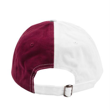 YARDSALE SPLIT CAP WHITE/RED