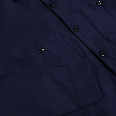 Peels NYC Heavy Twill Soft Cotton Long Sleeve Work Shirt Navy