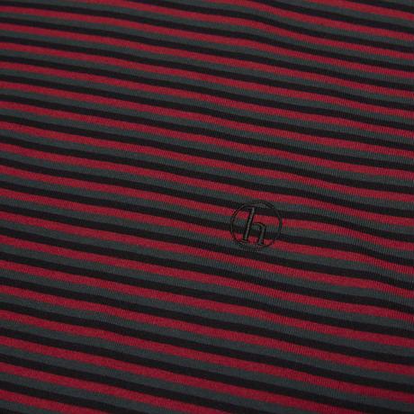 HELLRAZOR H STRIPED TEE BLACK/RED