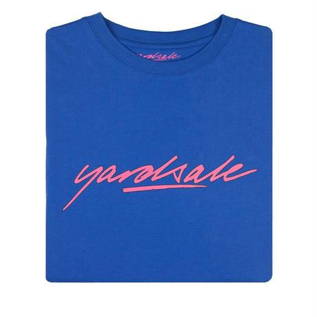 YARDSALE Script T-shirt Blue