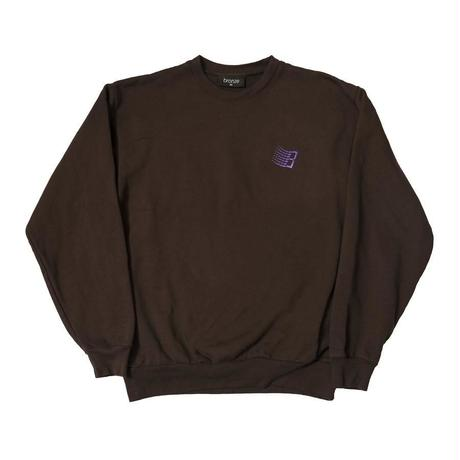 BRONZE56K EMBROIDERED B LOGO CREWNECK BROWN