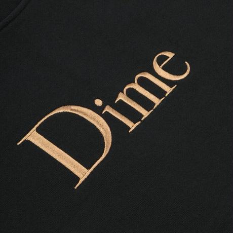 DIME CLASSIC EMBROIDERED CREWNECK BLACK