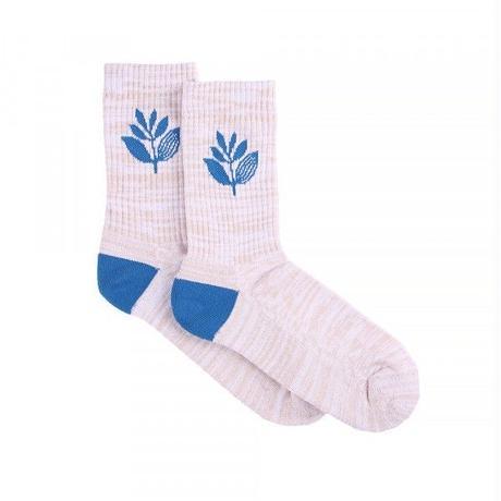 MAGENTA SOCKS MID - WHITE/BLUE