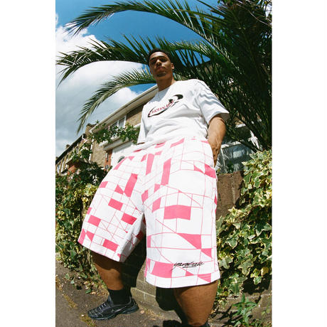 YARDSALE CYPHER SHORTS WHITE/RED