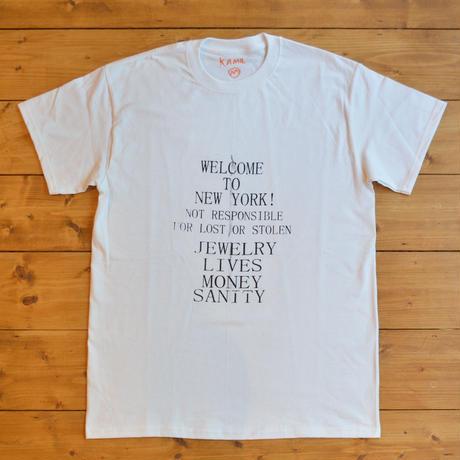 Kamil Abbas Welcome to Newyork Tee - White