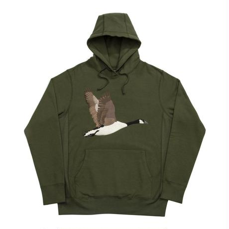 GRAND COLLECTION GOOSE SOUVENIR EMBROIDERED HOODIE