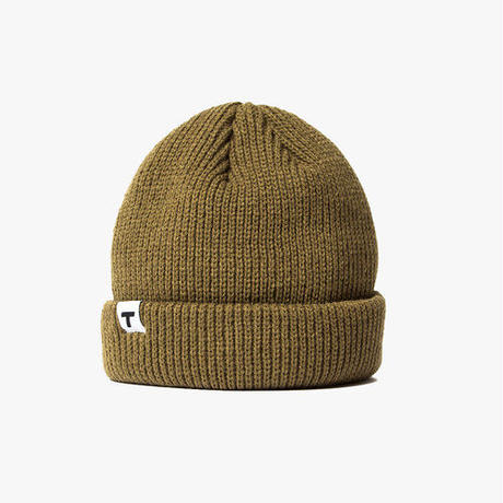 Theobalds Cap Co. Classic Team Beanie - Army Brown / White