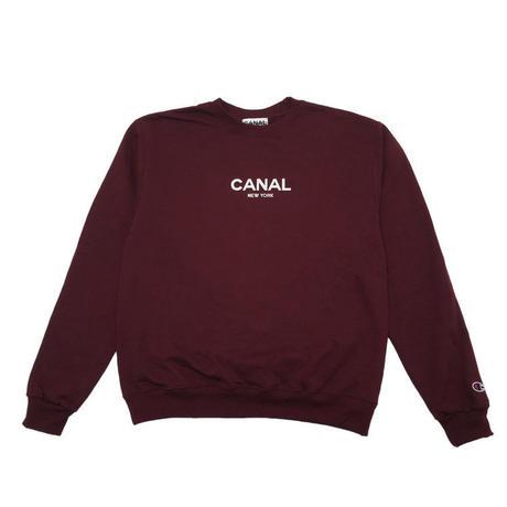 "CANAL ""CLASSIC LOGO"" CHAMPION CREW - MAROON"