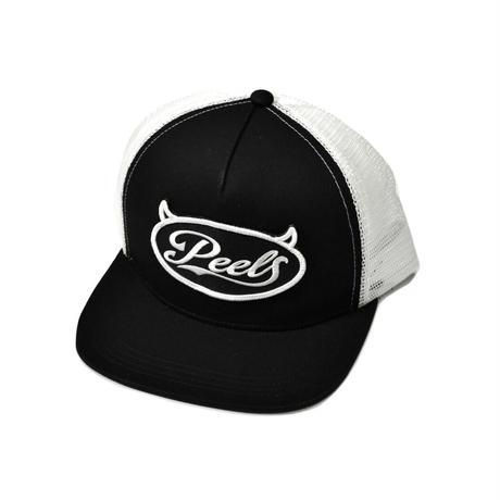 PEELS DEMON LOGO TRUCKER HAT BLACK