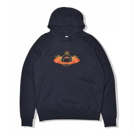 POP TRADING  ROYAL O HOODED SWEAT NAVY