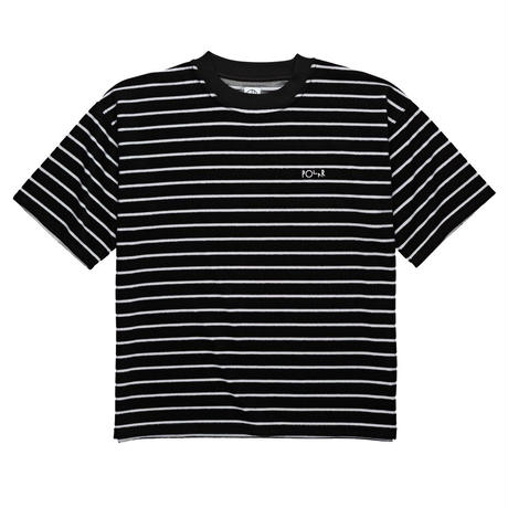POLAR SKATE CO. STRIPED TERRY SURF TEE Black