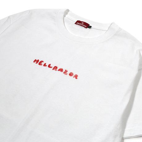 HELLRAZOR x MAYU YAMASE  LOGO TEE  WHITE