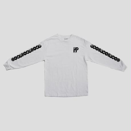 "PASS~PORT ""PP WORLD RECORDS"" L/S TEE WHITE"