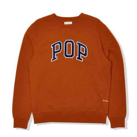POP TRADING POP ARCH CREWNECK AMBER
