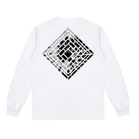 THE NATIONAL SKATEBOARD CLASSIC LOGO LONGSLEEVE - WHITE