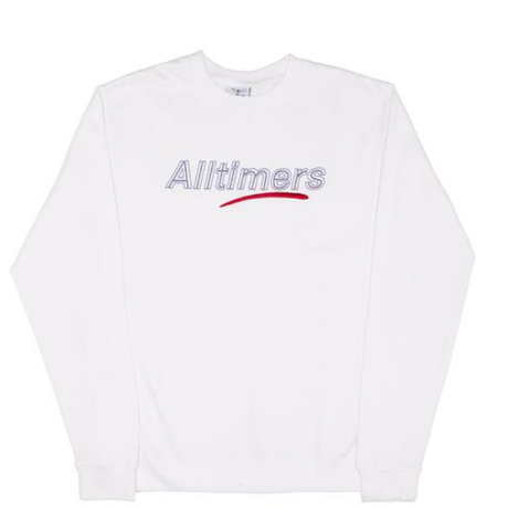 ALLTIMERS DASHED CREW WHITE