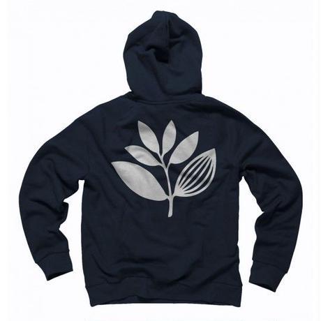MAGENTA PLANT HOODIE NAVY