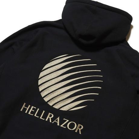 HELLRAZOR LOGO EMBROIDERED HOODIE BLACK