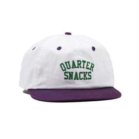 QUARTER SNACKS Arch Cap — White/Purple