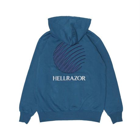 HELLRAZOR  LOGO PATCH HOODIE JADE BLUE