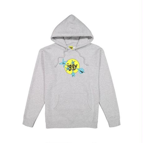 IGGY HEATHER THROWING DARTS HOODY