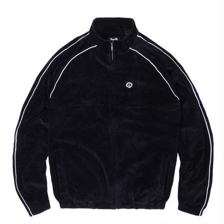 MAGENTA VELOURS SPORT JACKET - BLACK
