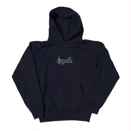 BRONZE56K EMBROIDERED SMOKE HOODY NAVY