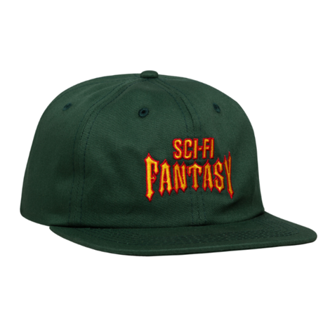 SCI-FI FANTASY Biker Hat Green / Red / Gold