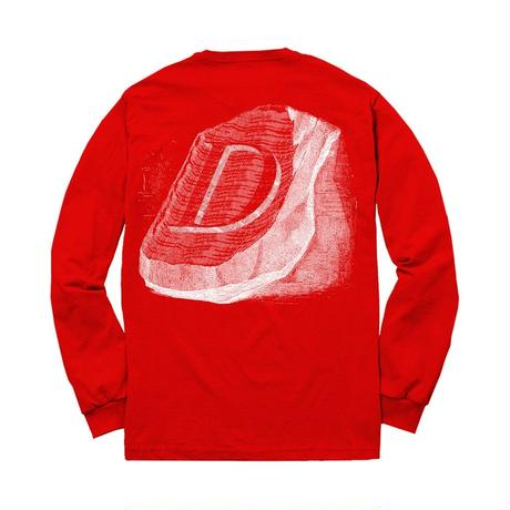 DIME STONE L/S T-SHIRT   Red