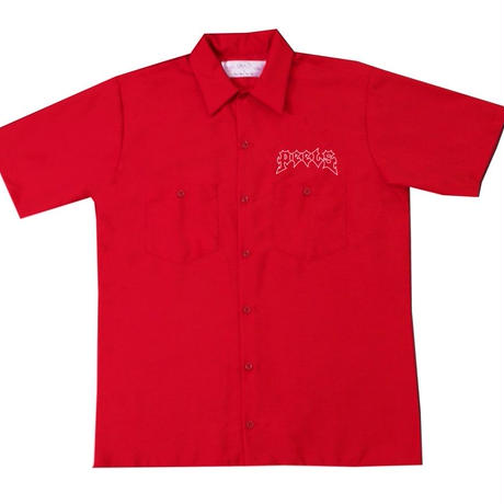 PEELS SS20 Baby Devil Work Shirt Red