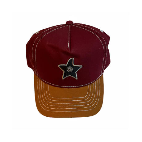 HOMIES NETWORK STAR CAP BURGUNDY/SAND
