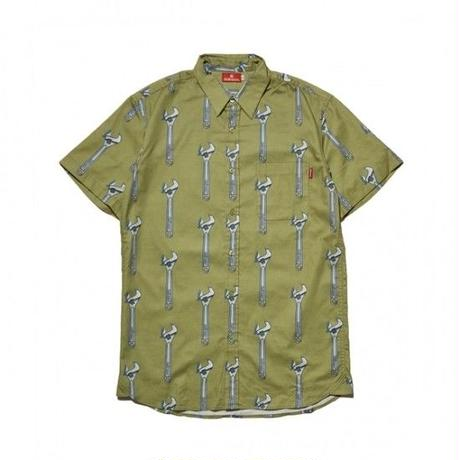 Hellrazor Wrench Button Shirt - Khaki