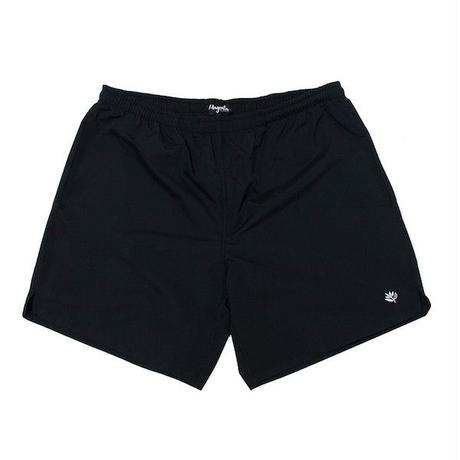 MAGENTA NYLON SHORTS - BLACK