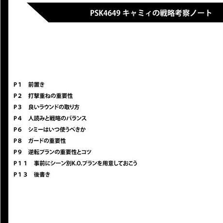 キャミィ戦略考察ノート(電子書籍版)