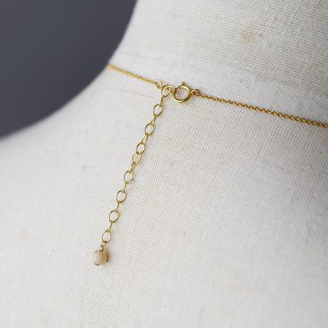 《羽根のようなケシパールの首飾り》K14GF・ネックレス・1点もの