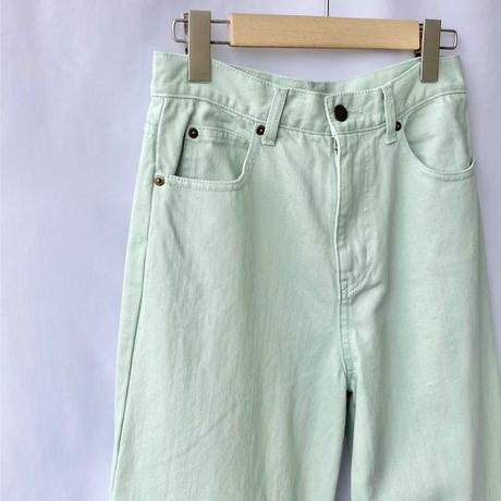 color denim pants