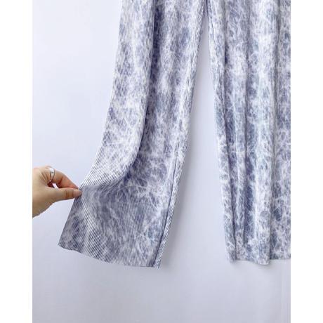 tie-dye pleats pants
