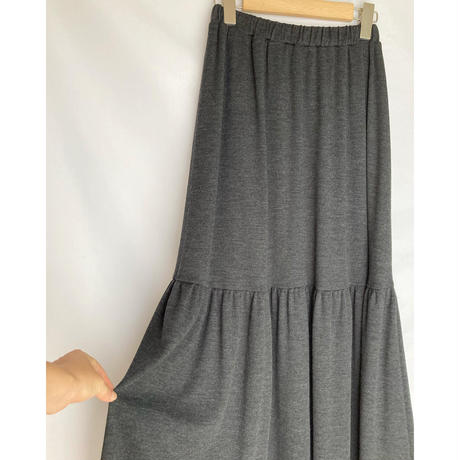 washable wool teard skirt
