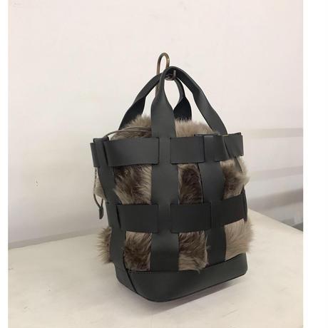 mesh eco fur bag