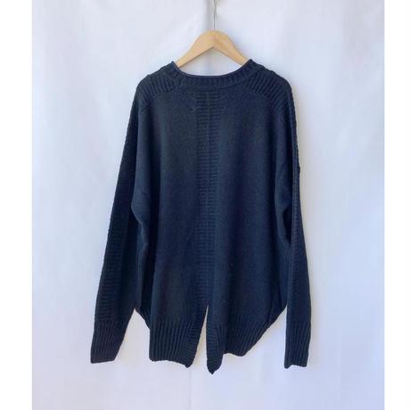 back slit cotton mix knit