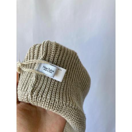 wool×linen knit cap