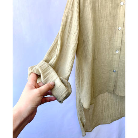 linen cotton lawn gather blouse