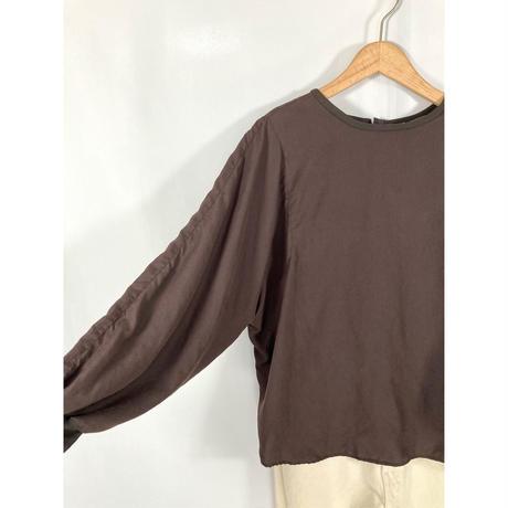 microfiber suede blouse