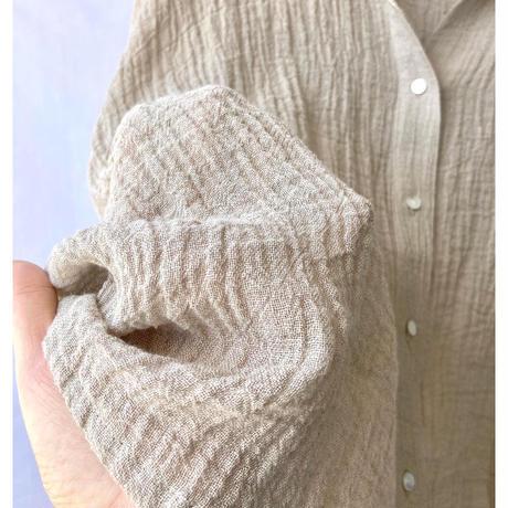 linen voile wide shirt