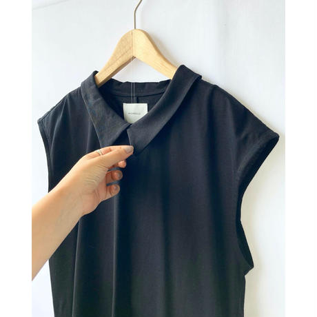 shirt collar no sleeve tops