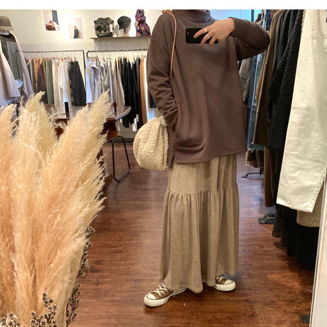 washable wool jersey teard skirt