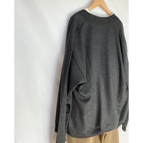 washable wool jersey cardigan