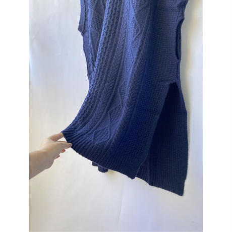 cable knit hood one-piece