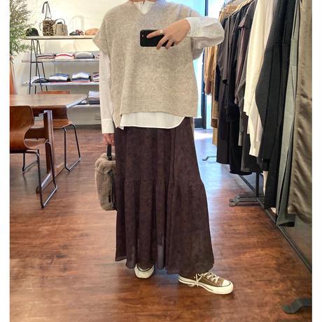 mohair knit vest